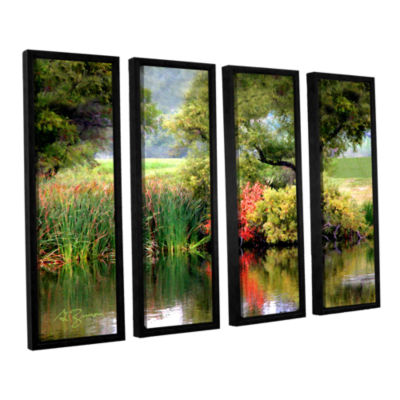 Brushstone Santee Lakes 4-pc. Floater Framed Canvas Wall Art