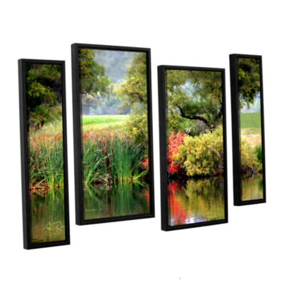 Brushstone Santee Lakes 4-pc. Floater Framed Staggered Canvas Wall Art