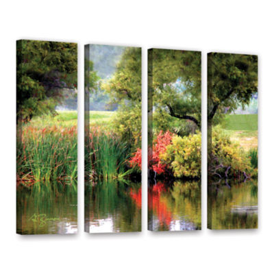 Brushstone Santee Lakes 4-pc. Gallery Wrapped Canvas Wall Art