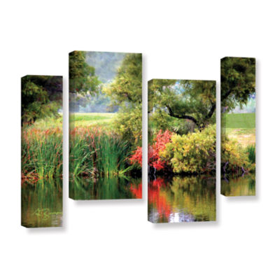 Brushstone Santee Lakes 4-pc. Gallery Wrapped Staggered Canvas Wall Art