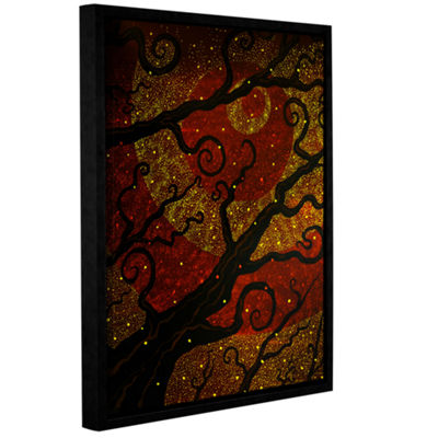 Brushstone Starburst Gallery Wrapped Floater-Framed Canvas Wall Art