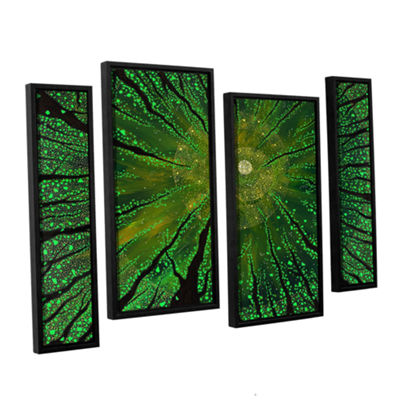 Brushstone Summer Shudder 4-pc. Floater Framed Staggered Canvas Wall Art