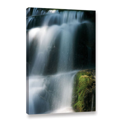 Brushstone Staircase Waterfall 1 Gallery Wrapped Canvas Wall Art