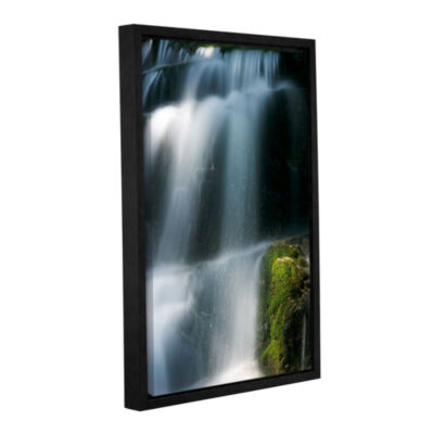Brushstone Staircase Waterfall 1 Gallery Wrapped Floater-Framed Canvas Wall Art