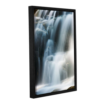 Brushstone Staircase Waterfall 2 Gallery Wrapped Floater-Framed Canvas Wall Art