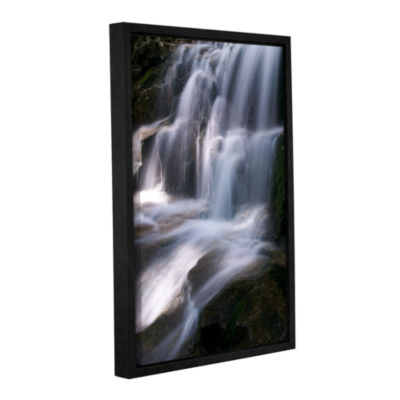 Brushstone Staircase Waterfall 3 Gallery Wrapped Floater-Framed Canvas Wall Art