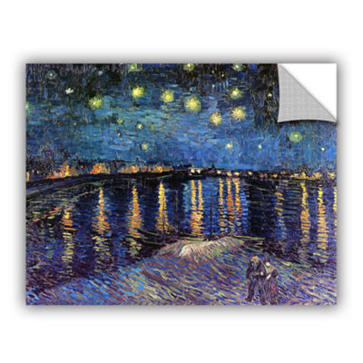 Brushstone Starry Night Over the Rhone (008) Removable Wall Decal