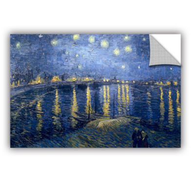 Brushstone Starry Night Over the Rhone (lighter version) Removable Wall Decal