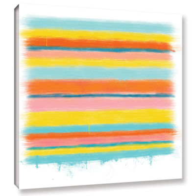 Brushstone Stripes Gallery Wrapped Canvas Wall Art