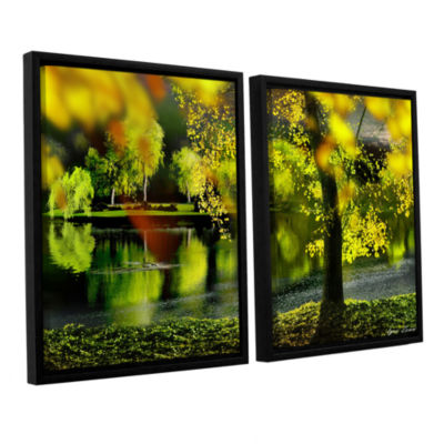 Brushstone Spring Pond 2-pc. Floater Framed CanvasWall Art