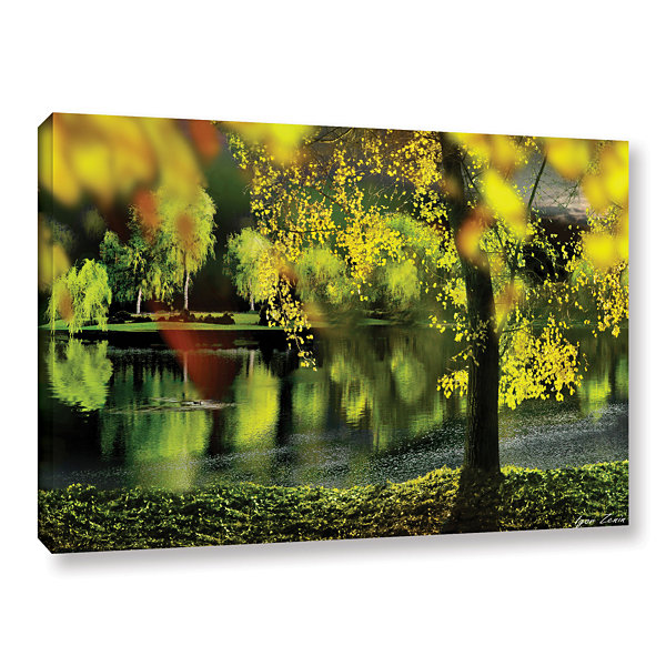 Brushstone Spring Pond Gallery Wrapped Canvas WallArt