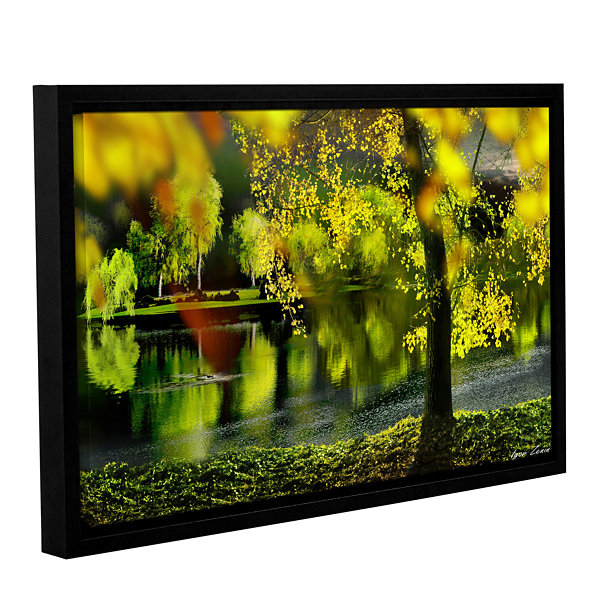 Brushstone Spring Pond Gallery Wrapped Floater-Framed Canvas Wall Art