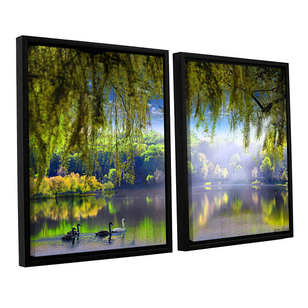 Brushstone Spring Waters 2-pc. Floater Framed Canvas Wall Art