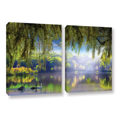 Brushstone Spring Waters 2-pc. Gallery Wrapped Canvas Wall Art