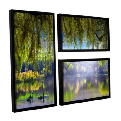Brushstone Spring Waters 3-pc. Flag Floater FramedCanvas Wall Art