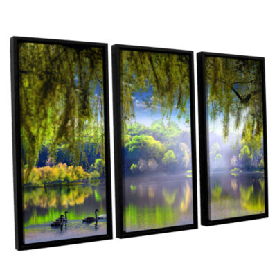 Brushstone Spring Waters 3-pc. Floater Framed Canvas Wall Art