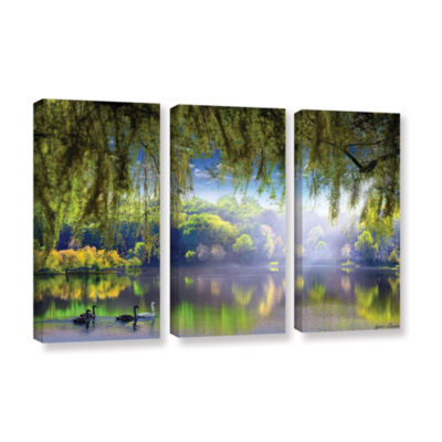 Brushstone Spring Waters 3-pc. Gallery Wrapped Canvas Wall Art