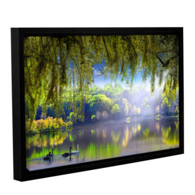 Brushstone Spring Waters Gallery Wrapped Floater-Framed Canvas Wall Art