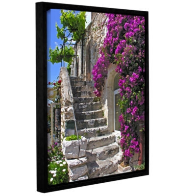 Brushstone St Paul De Vence  France Gallery Wrapped Floater-Framed Canvas Wall Art