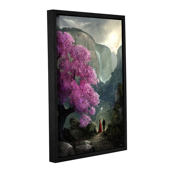 Brushstone The Path Gallery Wrapped Floater-FramedCanvas Wall Art