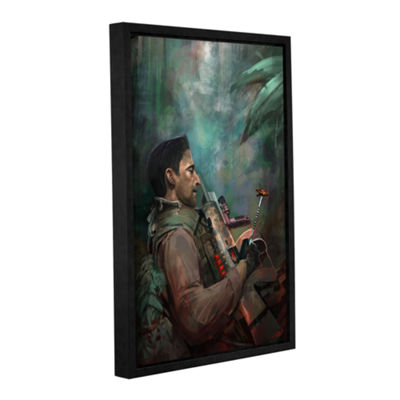 Brushstone The Hunting Of Man Gallery Wrapped Floater-Framed Canvas Wall Art