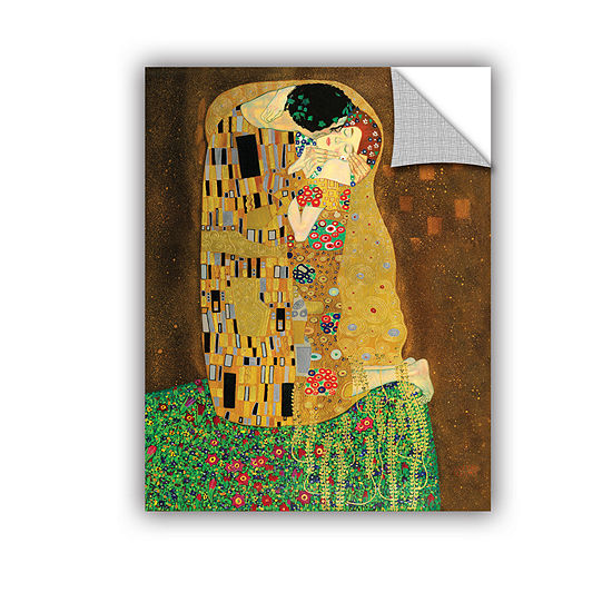 Brushstone The Kiss By Gustav Klimt Removable Wall Decal