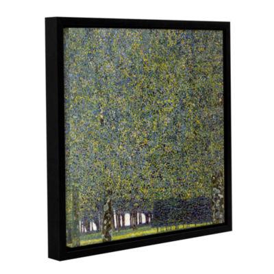 Brushstone The Park By Gustav Klimt Gallery Wrapped Floater-Framed Canvas Wall Art