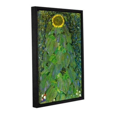 Brushstone The Sunflower By Gustav Klimt Gallery Wrapped Floater-Framed Canvas Wall Art