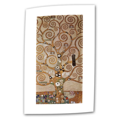 Brushstone Tree Life By Gustav Klimt Canvas Wall Art