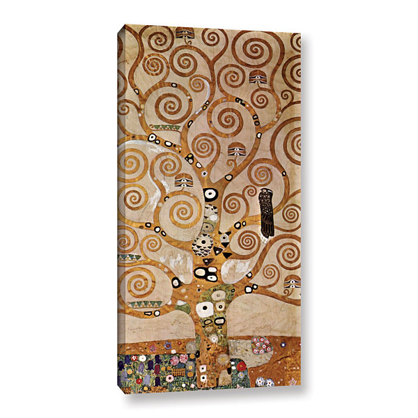 Brushstone Tree Life By Gustav Klimt Gallery Wrapped Canvas Wall Art