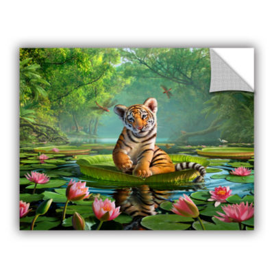 Brushstone Tiger Lily Removable Wall Decal