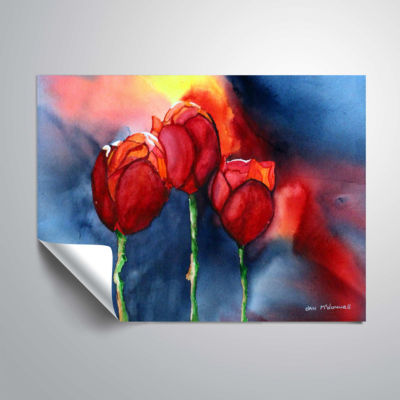 Brushstone Tulips By Dan Mc Donnell Removable WallDecal