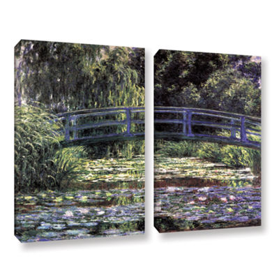 Brushstone The Japanese Footbridge  Giverny 2-pc.Gallery Wrapped Canvas Wall Art
