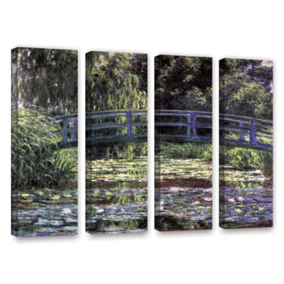 Brushstone The Japanese Footbridge  Giverny 4-pc.Gallery Wrapped Canvas Wall Art