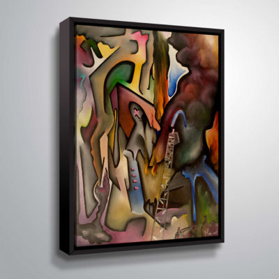 Brushstone Tragedy In Florence Gallery Wrapped Floater-Framed Canvas Wall Art