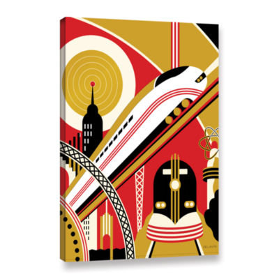Brushstone Train Gallery Wrapped Canvas Wall Art