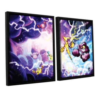 Brushstone Thunder 2-pc. Floater Framed Canvas Wall Art