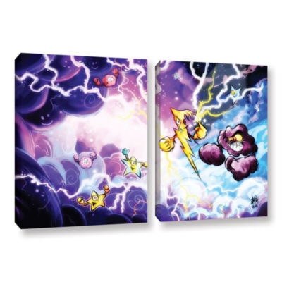 Brushstone Thunder 2-pc. Gallery Wrapped Canvas Wall Art