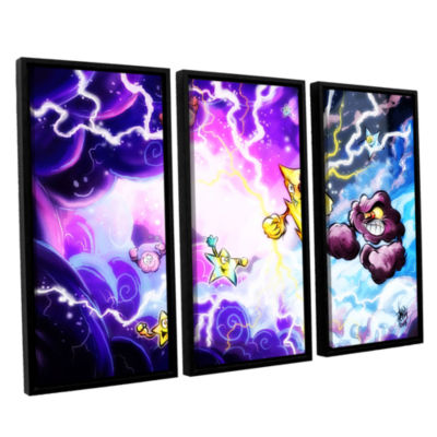 Brushstone Thunder 3-pc. Floater Framed Canvas Wall Art