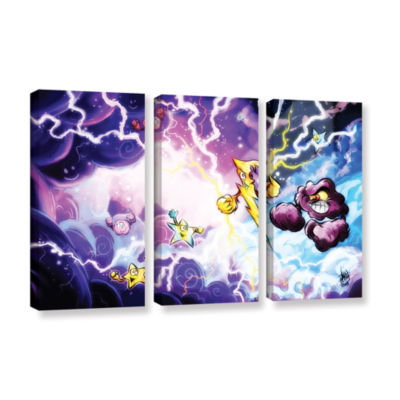 Brushstone Thunder 3-pc. Gallery Wrapped Canvas Wall Art