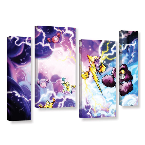 Brushstone Thunder 4-pc. Gallery Wrapped StaggeredCanvas Wall Art