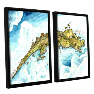 Brushstone Timor Island 2-pc. Floater Framed Canvas Wall Art