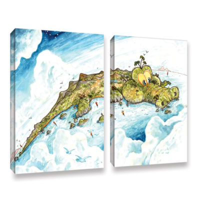 Brushstone Timor Island 2-pc. Gallery Wrapped Canvas Wall Art