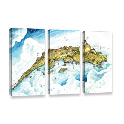 Brushstone Timor Island 3-pc. Gallery Wrapped Canvas Wall Art
