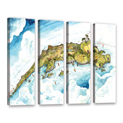 Brushstone Timor Island 4-pc. Gallery Wrapped Canvas Wall Art