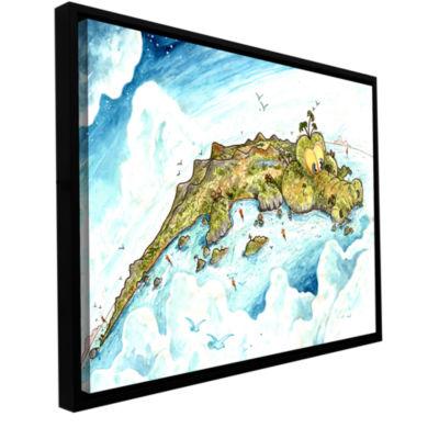 Brushstone Timor Island Gallery Wrapped Floater-Framed Canvas Wall Art