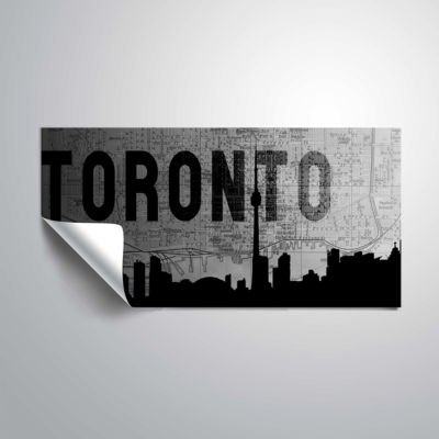 Brushstone Toronto (Map) Removable Wall Decal