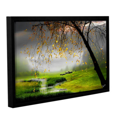 Brushstone Tranquillity Gallery Wrapped Floater-Framed Canvas Wall Art