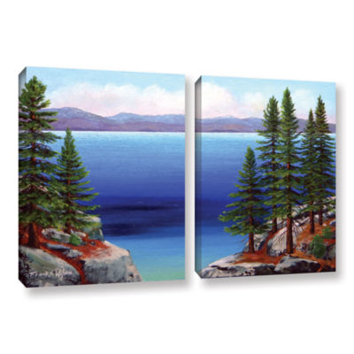 Brushstone Tahoe Dreams 2-pc. Gallery Wrapped Canvas Wall Art
