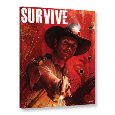 Brushstone Survive Gallery Wrapped Canvas Wall Art